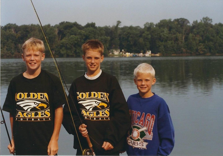 Kyle, Cris and Cooper Johansen, circa 1994