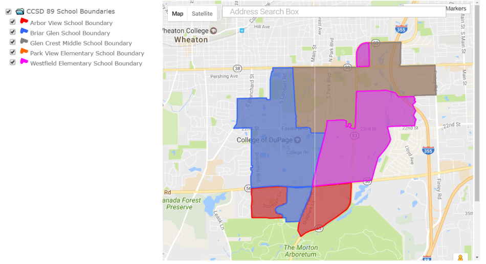 current district 89 boundaries glen ellyn