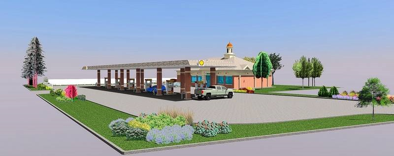 proposed shell gas station at five corners glen ellyn