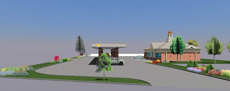 proposed shell gas station at five corners glen ellyn side