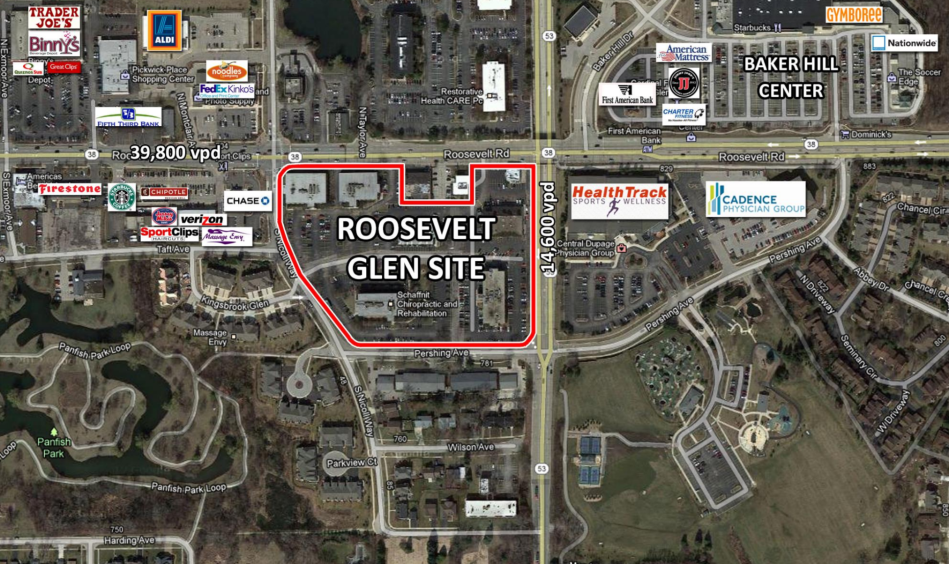 Roosevelt Glen site of new drive thru panera glen ellyn