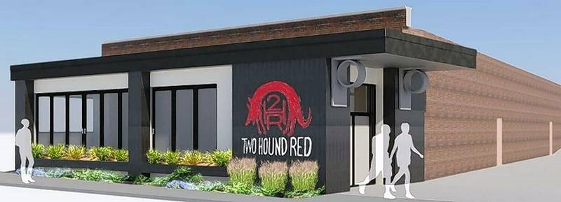 two hound red microwbrewery render