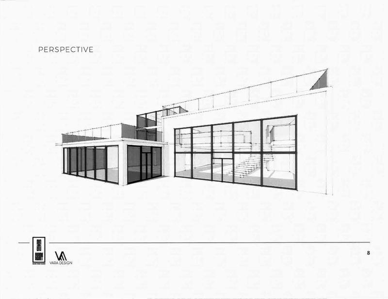 Giesche shoe store Glen Ellyn renovation exterior drawing