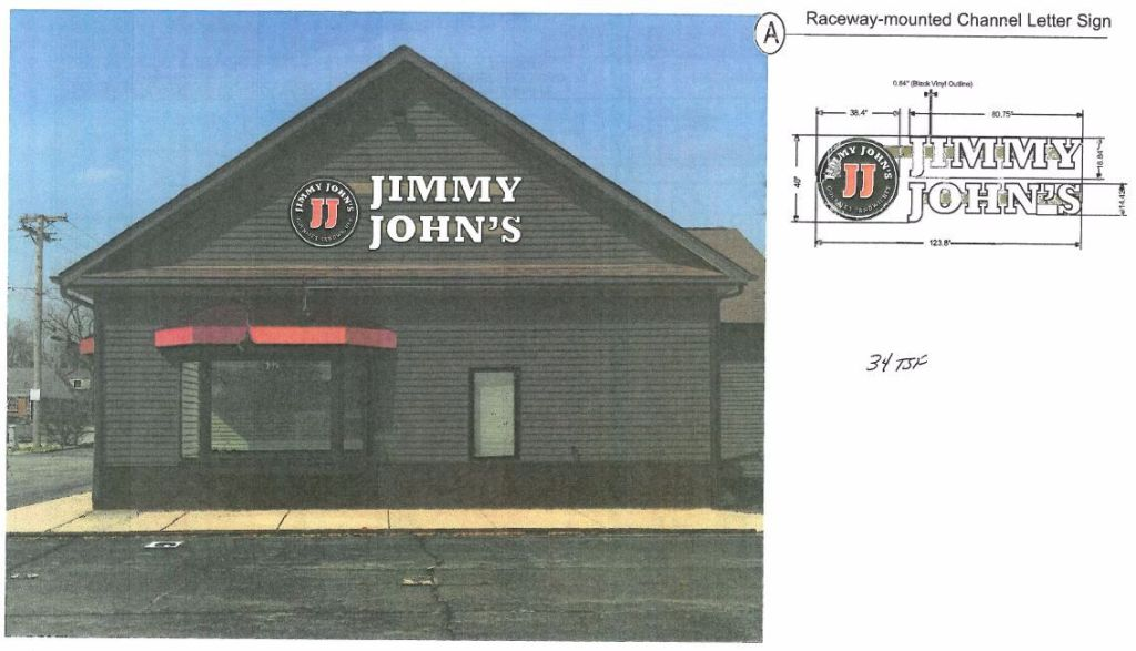Jimmy Johns new location Glen Ellyn rendering
