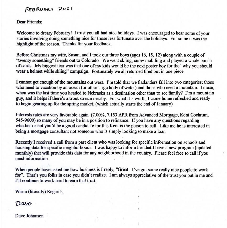 Dads newsletter February 2001