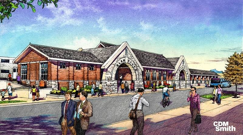 Glen Ellyn Metra Station rendering