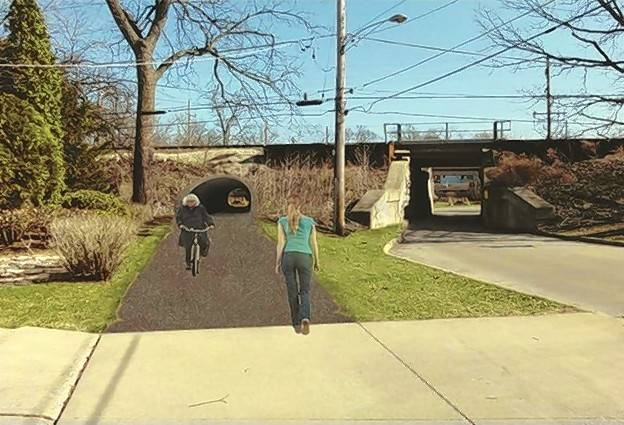 daily herald taylor ave pedestrian tunnel rendering glen ellyn.png